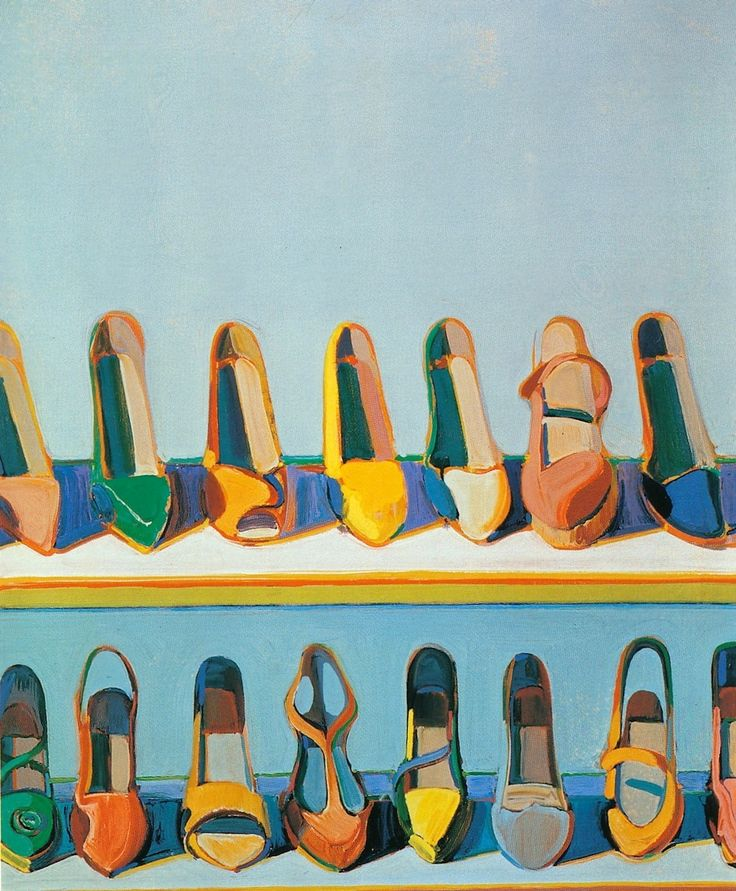 Wayne Thiebaud, Shoe Rows, 1975