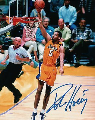 Robert Horry Signed Autographed 8X10 Photo LA Lakers Fast Break Dunk w/COA