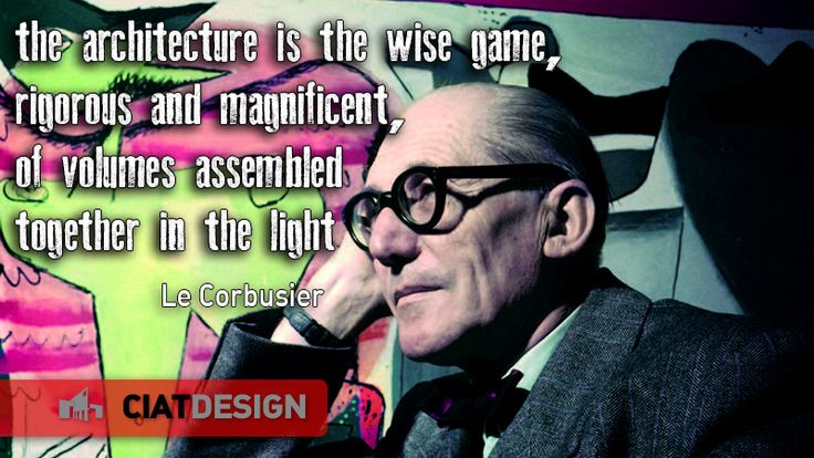 Not a man, but a pure myth. #LeCorbusier has changed forever how the design is intended