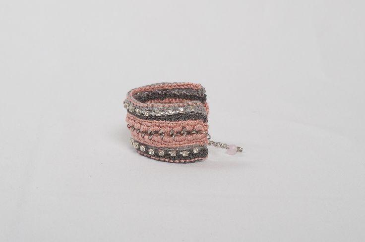 Joy - pink rose bracelet from http://stylewise.gr/