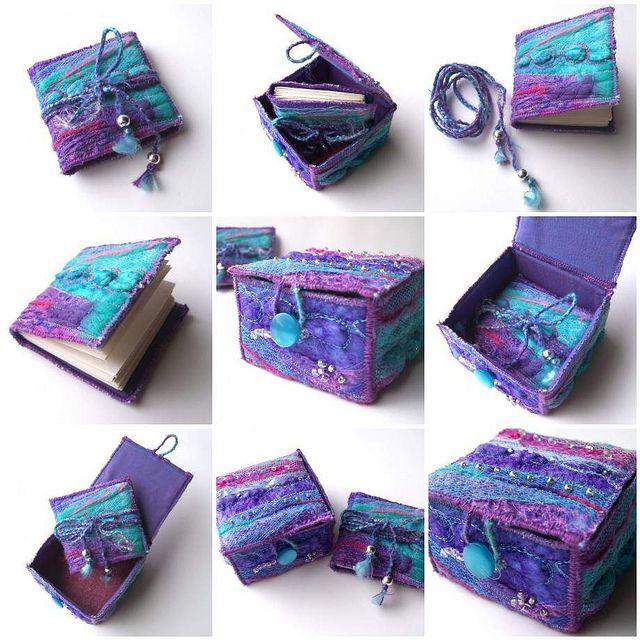 Colours!!!!! Textile Trinket Box and Mini Book