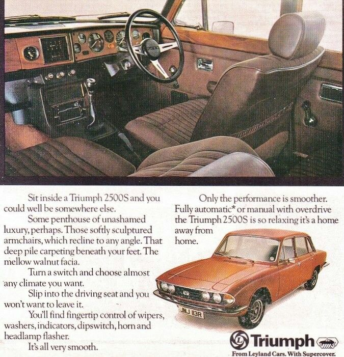Triumph 2500S advert