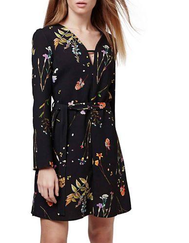 Women's | Women's | Botanical Floral Print Belted Dress | Hudson's Bay