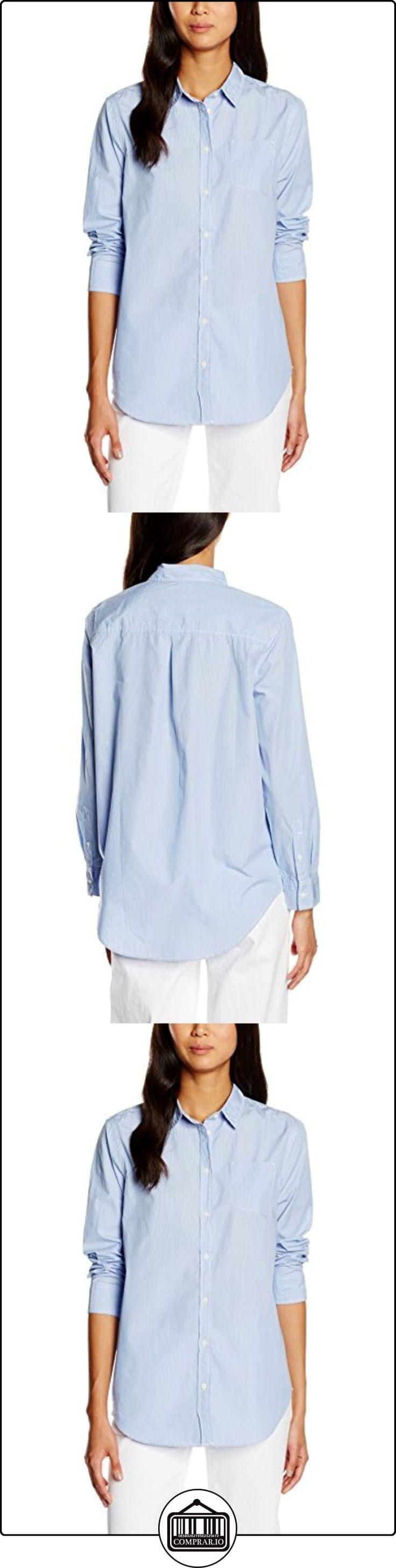Benetton 5SC55Q6L4, camisa Mujer, Azul (Blue), XL(UK) ✿ Blusas y camisas ✿