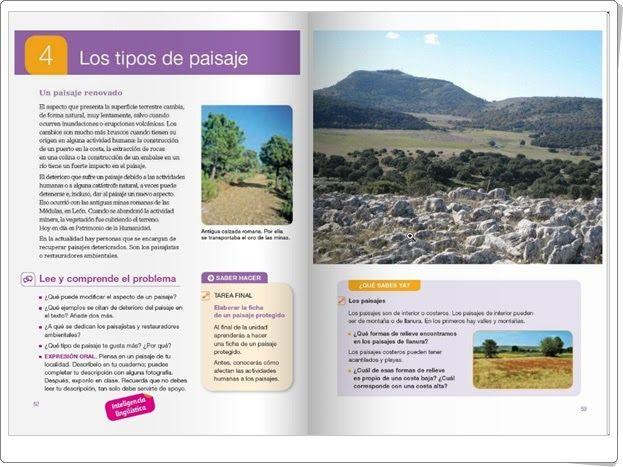 """Unidad 4 de Ciencias Sociales de 4º de Primaria: """"Los tipos de paisaje"""""""