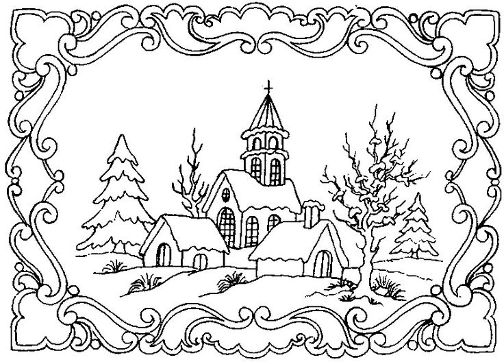 winter scene coloring pages for adults google search christmas coloring pages pinterest coloring pages adult coloring and adult coloring pages