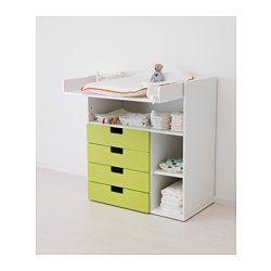 STUVA Schreib-/Wickeltisch, weiß - weiß - IKEA