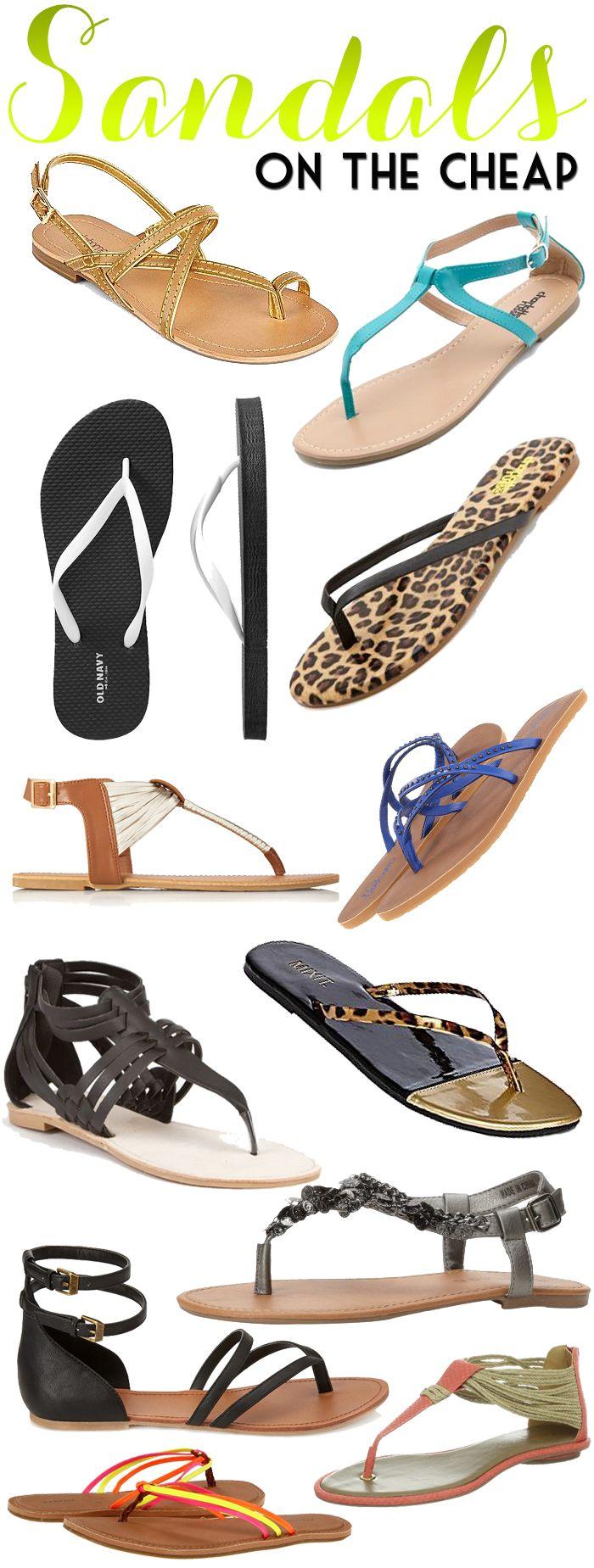 Cheap Sandals for Summer! #budgetfashion #cheapfashion #sandals