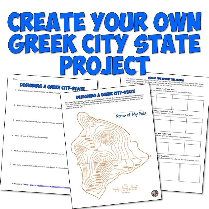 This fun Ancient Greece resource encourages student creativity and understanding of how Greek city states looked and were designed.