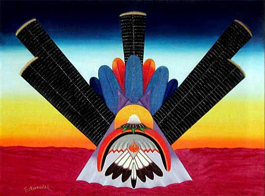 Tennyson Eckiwaudah - Comanche- Morning Vision, Native American Church Art