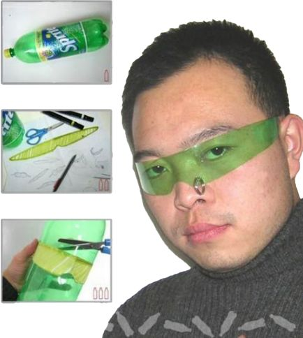 how to make plastic sunglasses