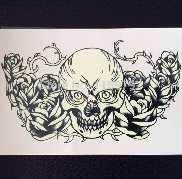 Случайно 5 шт./лот красочные татуировки наклейки призрак временные татуировки наклейки, большой душераздирающий татуировки творческий бумага стикер