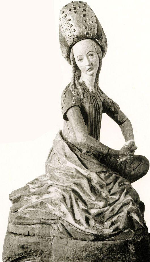 Magdalena  escultura de pedra  Catedral de Lubeck