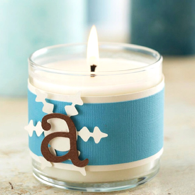 Homemade Christmas Gift Personalize Candles