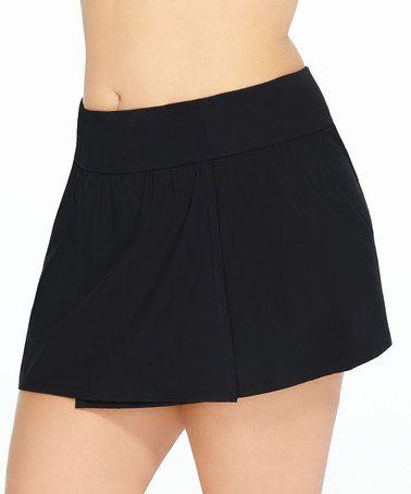 Look at this #zulilyfind! Black Skirted High-Waist Bikini Bottoms - Plus #zulilyfinds