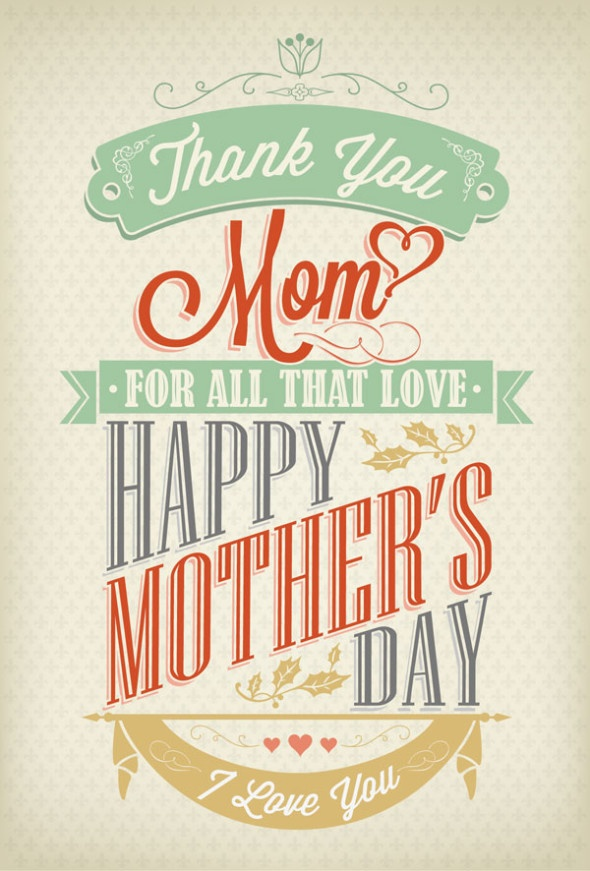 20 Happy Mothers Day 2013 Cards With Beautiful Typography.