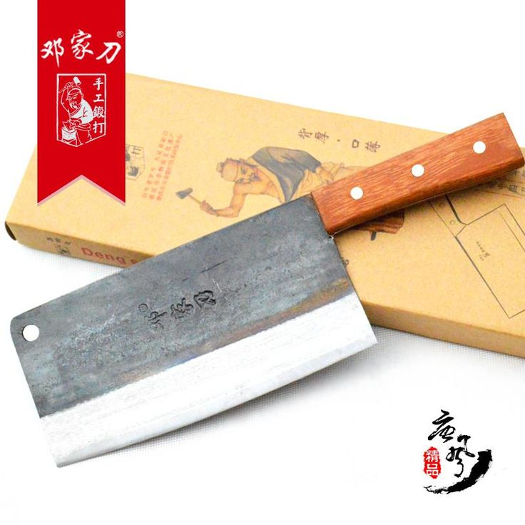 [Visit to Buy] Traditional carbon steel kitchen Accessories knives slicing /chop bone /cutting knife+Chef knives/ Utility Knives Chinese style #Advertisement