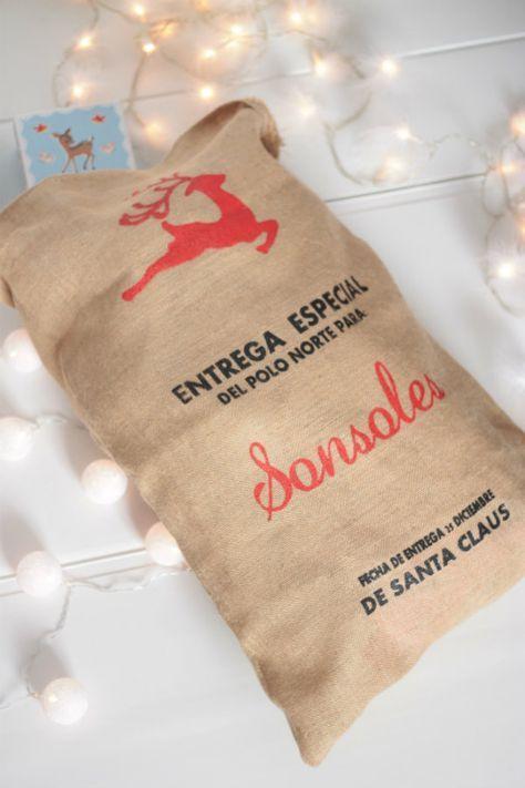 44023634c Saco de regalos Entrega Especial (Navidad o Reyes): Christmas Vinyl,  Handmade Christmas