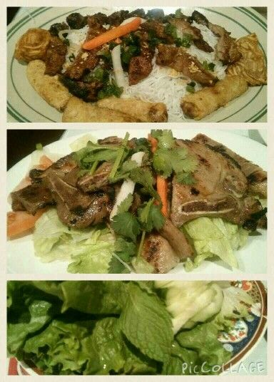 Bbq Pork Chop, Combination appetizer, salad