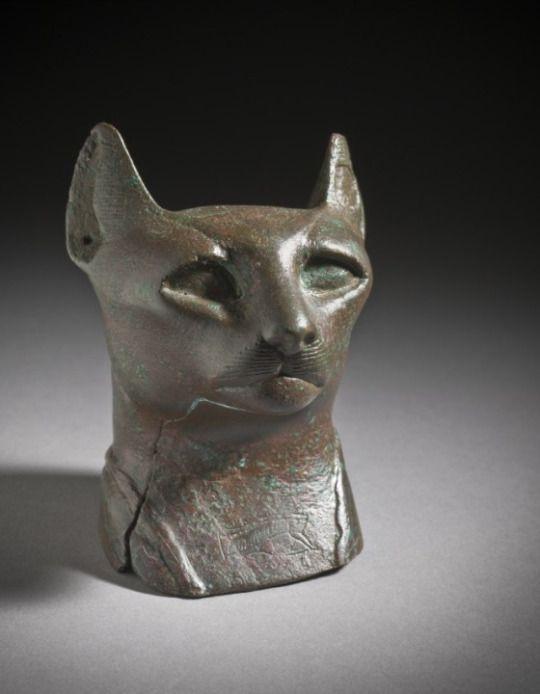 Bronze Head of a Cat  Late Period Egypt, 712-332 B.C.  Source: LACMA