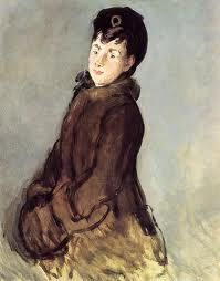 MANET.Retrato de Isabel Lemonnier con manguito, 1879-1882