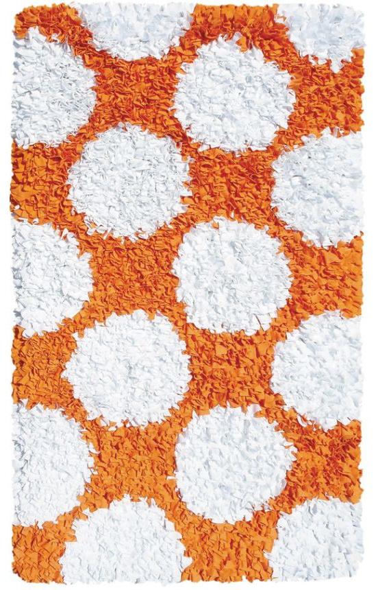 The Rug Market Kids Polkamania Orange And White 02265 Orange And White Area  Rug