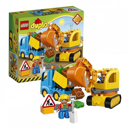 Купить Конструктор Lego Duplo 10812 Лего Дупло Грузовик и гусеничный экскаватор в интернет-магазине Toy.ru