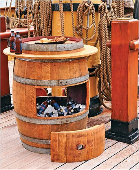 30+ Creative DIY Wine Bars for Your Home and Garden --> DIY Wine Barrel Cooler
