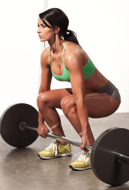Perfect deadlift form, although I wish she wasn't using mixed grip at that load.