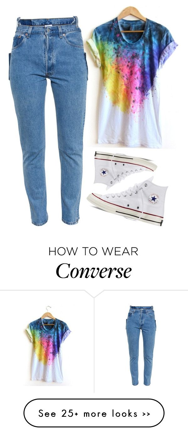 """""""Simple but Cool"""" by crazzyko on Polyvore featuring Vetements and Converse"""