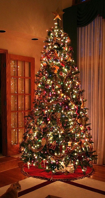 remembering the french doors high ceilings and 10 foot trees of old world - How To Decorate A 10 Foot Christmas Tree