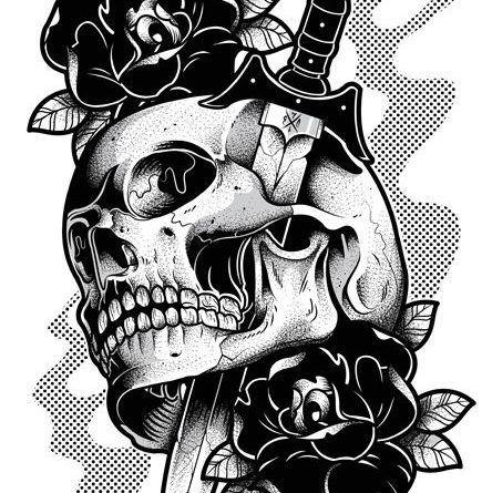 Эскизы тату. Череп | Рисунки черепов, Картинки черепа, Рисунки
