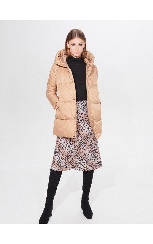 Pikowana Kurtka Z Rekawiczkami Kurtki Plaszcze Bezowy Mohito Outer Jacket Winter Jackets Outer Women
