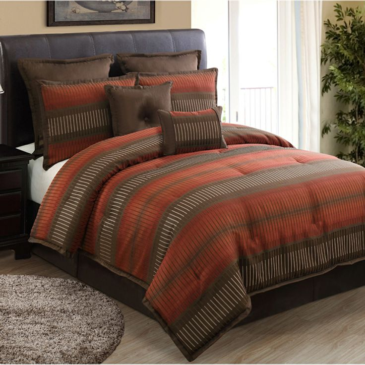 Russell Rust 8 Piece Comforter Set Products Rust And