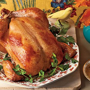 Capons are great for a special occasion, but a 6-pound roasting chicken works equally well (cook times stay the same). Potato starch thickens the gravy and fits within Passover dietary restrictions.