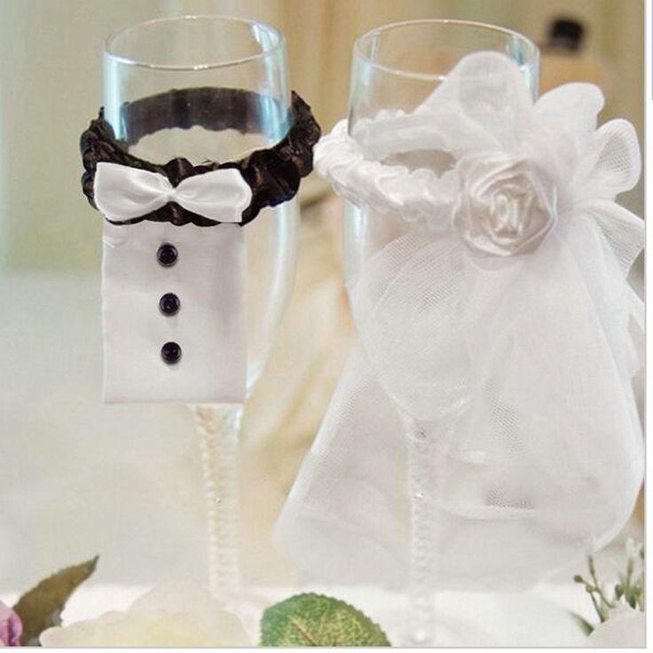 Mari e et le mari de mariage parti verres vin champagne for Decoration et accessoires