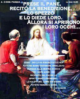 PAROLA Anno Liturgico A : A - 3 DOM. PASQUA