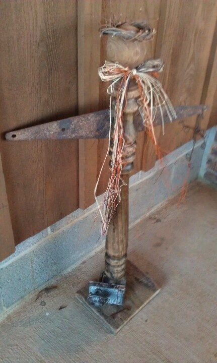 Angel Made Out Of An Old Table Leg, Old Hinge.