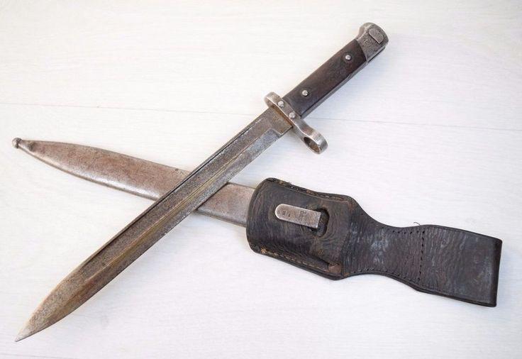 WWII Model M1895 Steyr OE WG Maker Mark Austrian Knife Metal Sheath Mannlicher