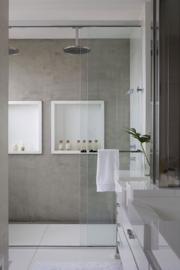Bathroom | by Fábio Galeazzo Clean lined shower enclosure disappears (if water in London didn't have so much lime!)