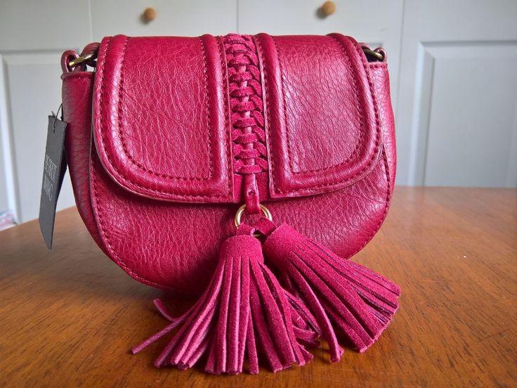 INC International Concepts Burland Saddle Bag Wine Handbag Clutch MSRP $49.50 #INC #MessengerCrossBody