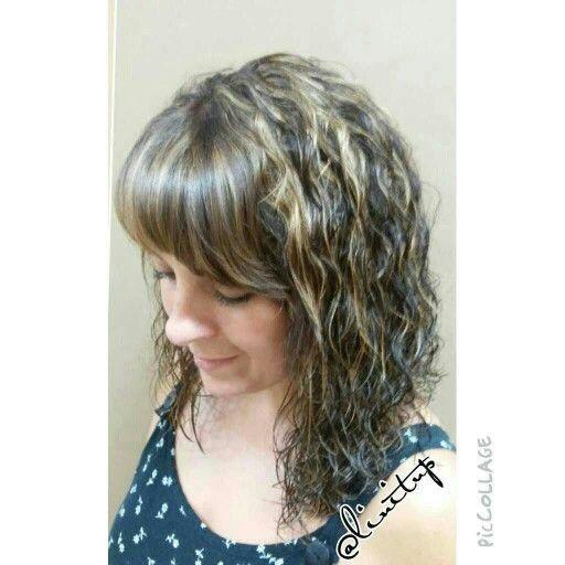 Highlights, bangs, curlyhair