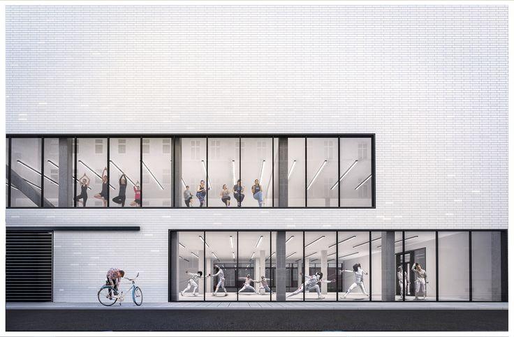 Hybrid sport complex with fencing hall in Wrocław (PL)
