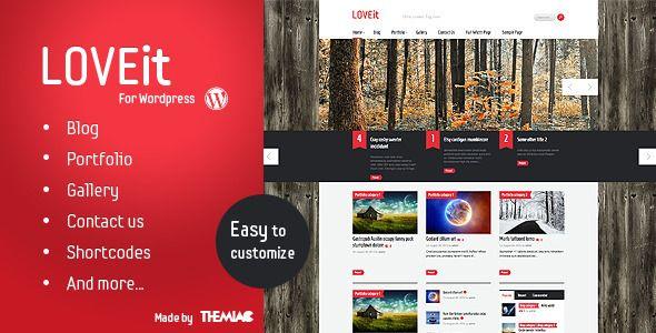 Awesome Wordpress Magazine/blog Theme - LOVEit