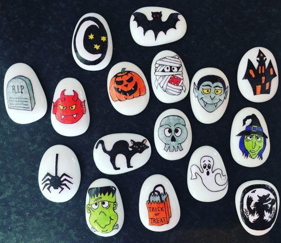 Histoire Halloween ensemble des pierres par MyStoryStonesRock