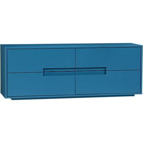 under front desk latitude slate bluegrey low dresser in bedroom furniture bedroom furniture cb2