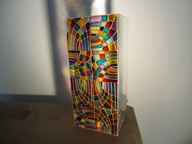 Hand Painted Glass Vase. £25.00, via Etsy.