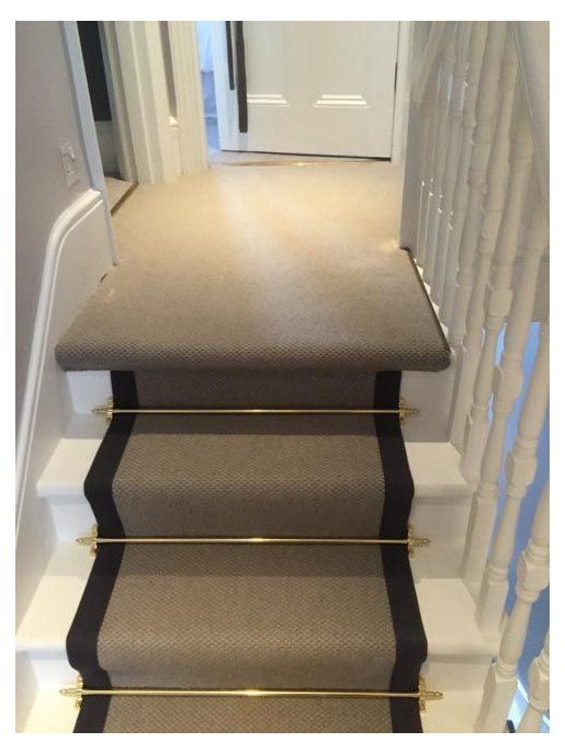 Best Stairs To Supply Install Grey Carpet With Black Border 400 x 300