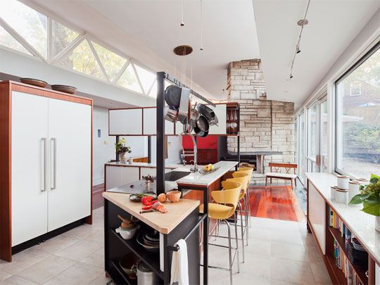 pot rack + bat seating + custom cabinetry // home of toby shawe + samy badawy