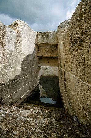 "The nuragic civilization ""Pozzo sacro di Santa Cristina"" - Paulilatino, Sardinia, Italy. Bronze age"